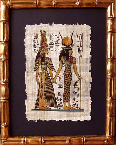 Египетский папирус в рамке своими руками