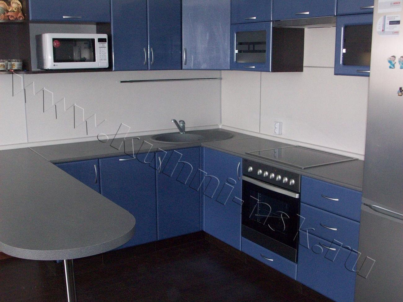 кухня фото синий металлик
