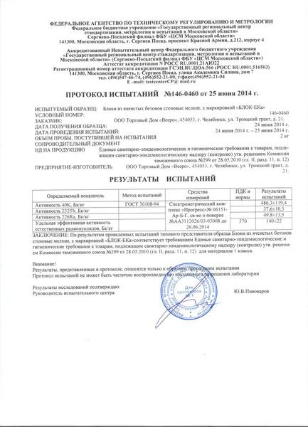 Протокол Испытаний На Бетон В30