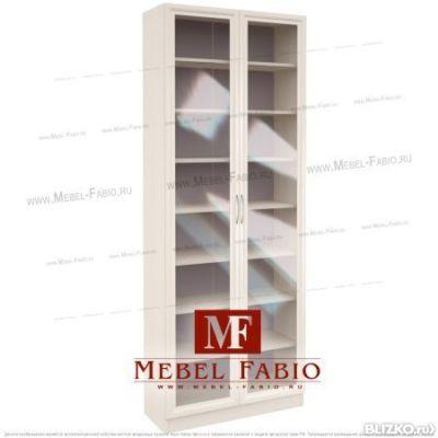 Шкаф библиотека шк-2/3 токио - закрытый - со стеклом - цвет .