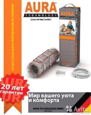 Нагревательный мат под плитку терморегулятор в подарок