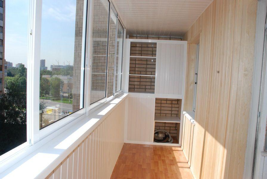Полная отделка балкона п,г-образные и прямые до 3,5 м длинно.