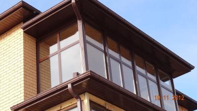 Кровля балкона/лоджии на металлических консолях в дзержинске.