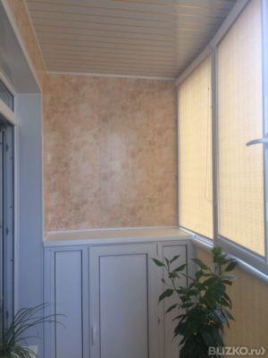 Ремонт балкона (установка шкафов) от компании галерея окон к.