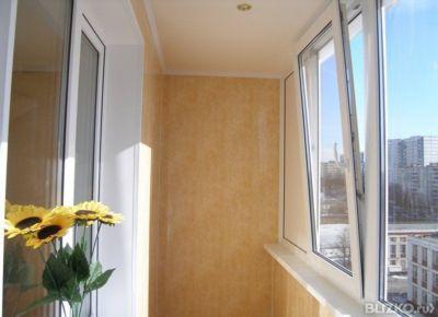 Теплое остекление балконов с трех сторон 3000х1500 мм от ком.