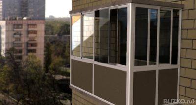 Холодное остекление балконов с трех сторон профиль slidors 1.