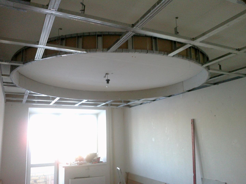 2х уровневый потолок из гипсокартона своими