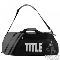 dbc27cb8b690 TITLE Спортивная сумка-рюкзак TITLE World Champion 2.0 Black/Grey TITLE